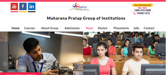 Maharana Pratap Group of Institutions – Various Colleges in Kanpur & Lucknow for Engineering, Management, IT, Pharmacy, Dental, Nursing & Paramedical Courses