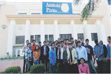 Industrial Visit to Akshay Patra