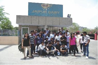 Industrial Visit to Jaipur Dairy