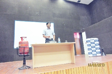 Sunil Khandelwal from Gas Safe India NGO at Safety Awareness Programme held at PU