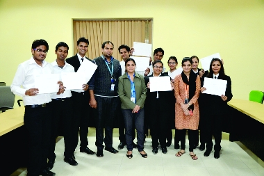 Selected Students in Genpact with Ms. Shilpi, HR Manager
