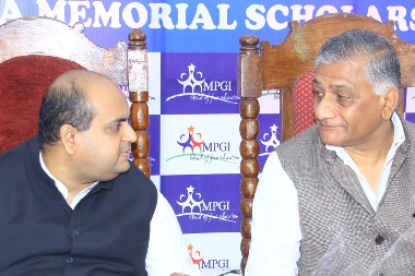 Chairman Shailendra Bhadauria with Gen. V.K. Singh (Retd.), Minister of State for Road Transport and Highways in a Group Event