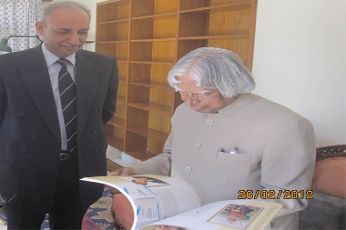 His excellency late Dr. APJ Abdul Kalam with Former President of Pratap University
